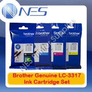 Brother Genuine LC-3317 BK/C/M/Y (Set of 4) Ink Cartridge for MFC-J5330DW/MFC-J5730DW/MFC-J6530DW/MFC-J6730DW/MFC-J6930DW